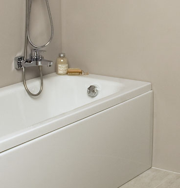 Close up of VitrA balance bath with bath tap