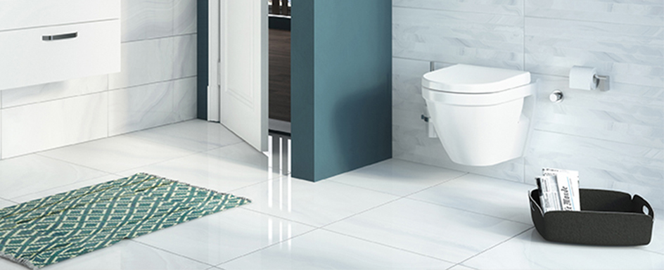 Bathroom setting showing VitrA S50 toilet and furniture