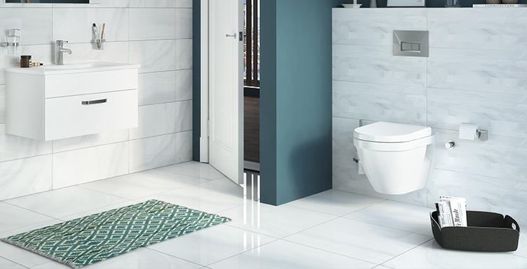 Bathroom setting showing VitrA S50 products
