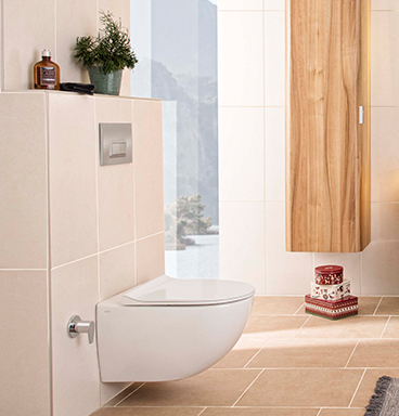 VitrA Sento wall-hung toilet and flush plate