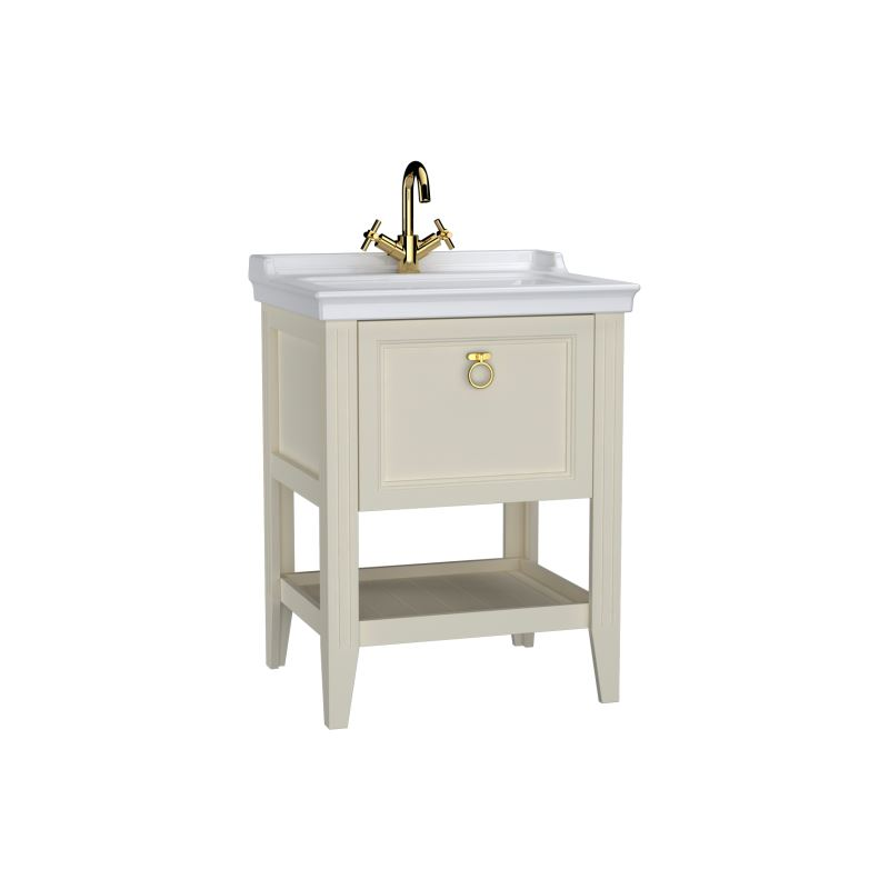 Valarte Washbasin Unit Matt Ivory, 65 cm