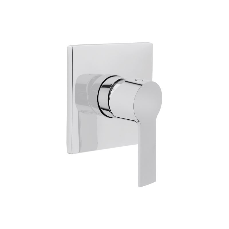 Built-In Stop Valve Compatible with Aquacare shower toilets, square, to be used with A41455