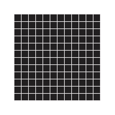 2.5x2.5 Pro Color RAL 0001500 Black Mosaic Glossy