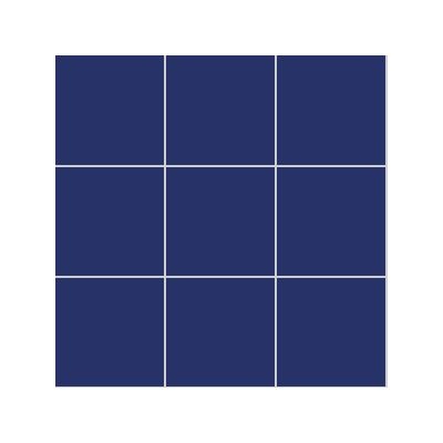 10x10 Pro Color RAL 5002 Cobalt Blue Mosaic Glossy