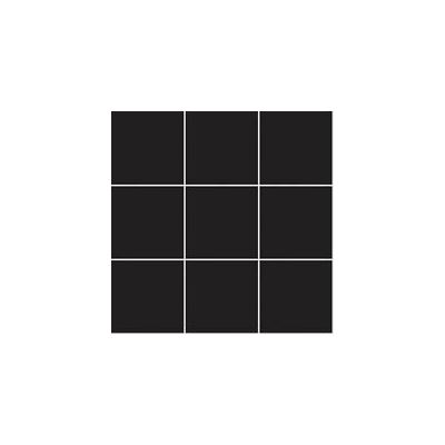 10x10 Pro Color RAL 0001500 Black Mosaic Glossy