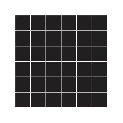 5x5 Pro Color RAL 0001500 Black Mosaic Glossy