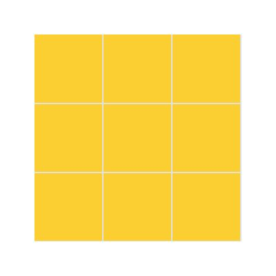 10x10 Pro Color RAL 1018 Yellow Mosaic Glossy