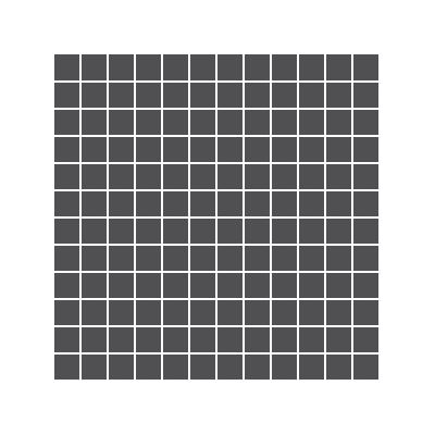 2.5x2.5 Pro Color RAL 0004000 Antracite Mosaic Glossy