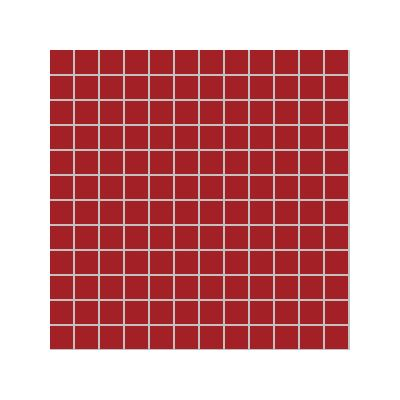 2.5x2.5 Pro Color RAL 3000 Red Mosaic Glossy