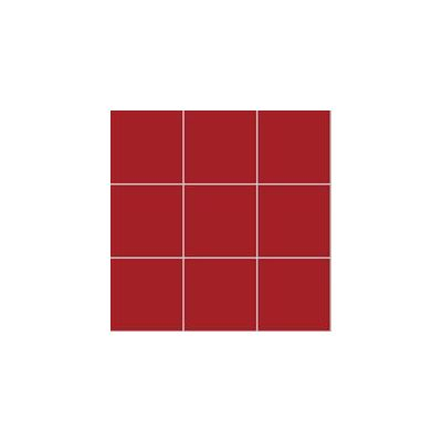10x10 Pro Color RAL 3000 Red Mosaic Glossy