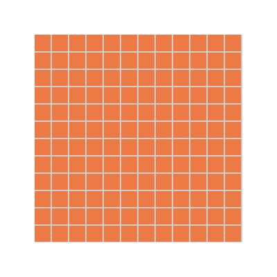 2.5x2.5 Pro Color RAL 2010 Orange Mosaic Glossy