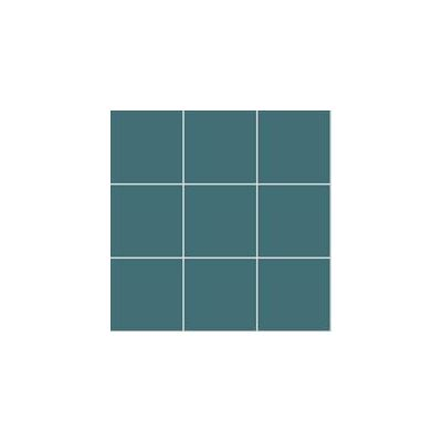 10x10 Pro Color RAL 2004030 Dark Turquoise Mosaic Glossy