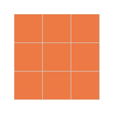 10x10 Pro Color RAL 2010 Orange Mosaic Glossy