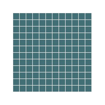 2.5x2.5 Pro Color RAL 2004030 Dark Turquoise Mosaic Glossy
