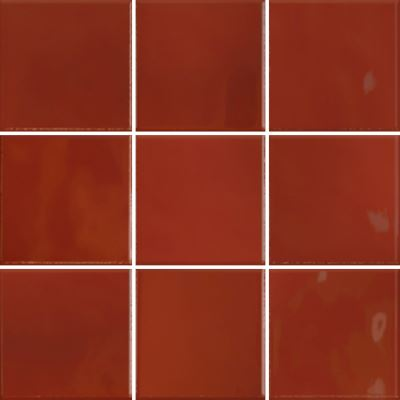 10x10 Retromix Tile Lava Red Glossy