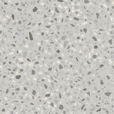 60x60 Cementmix Basic Tile Flake Geo Light Grey R1