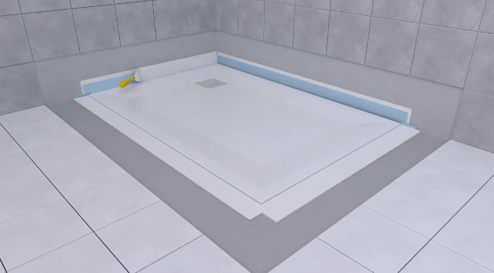 How to install a VitrA FLATShower Tray